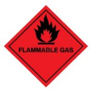 Hazard safety sign - Flammable Gas 032